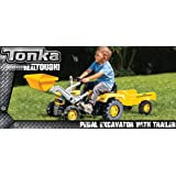 Tonka Kids Pedal Excavator with Trailer Ride On