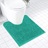 MAYSHINE Contour Shaggy Chenille Bath mats forToilet   Slip-Resistant   Soft   Absorbent water   Dry Fast   Machine-washable