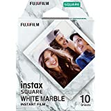 Fujifilm 16656473 Instax Square White Marble Film 10 Sheet