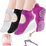 Yoga Socks for Women Non Slip Socks with Grips, Anti-Skid for Pilates, Barre, Ballet, Dance, Trampoline, Barefoot Workout Fit
