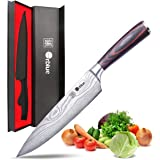 Orblue Chef Knife, 8-Inch High Carbon Stainless Steel Kitchen Chef's Knife for Cutting, Chopping, Dicing, Slicing & Mincing –