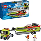 LEGO City Race Boat Transporter 60254 Race Boat Toy, Fun Building Set for Kids