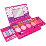My First Makeup Set Girls Makeup Kit Fold Out Makeup Palette with Mirror and Secure Close - SAFETY TESTED- NON TOXIC