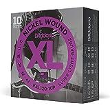 D'Addario EXL120-10P Nickel Wound Electric Guitar Strings, Super Light, 9-42, 10 Sets