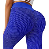 A AGROSTE Women's Butt Lifting Anti Cellulite Sexy Leggings High Waisted Yoga Pants Workout Tummy Control Textured Booty Tigh