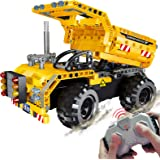 STEM Engineering Toys | Dump Truck Building Set with Remote Control, Fun Educational Construction Toy for Boys And Girls ages