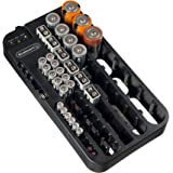 Stalwart 75-ST6015 Battery Organizer Caddy With Tester - Holds Over 70 Batteries