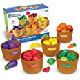 Learning Resources Farmer's Market Color Sorting Set, Homeschool, Play Food, Fruits and Vegetables Toy, Easter Toys, 30 Piece