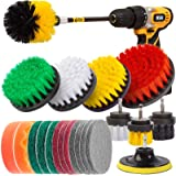 Holikme 19Piece Drill Brush Attachments Set,Scrub Pads & Sponge, Power Scrubber Brush with Extend Long Attachment All purpose