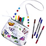 Butterfly Crossbody Bag with Washable Fabric Markers