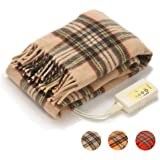 LIFEJOY 日本製 電気毛布 ひざ掛け 洗える あったかブランケット かわいい 120cm×62cm ベージュ JBH121