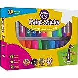 Little Brian LBPS10CMDA24 Assorted 24 Pack Paint Sticks