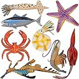 TOYMANY 8PCS Plastic Sea Ocean Animal Toy Figurines