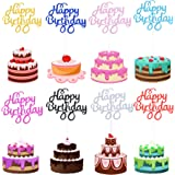 40 Pcs Happy Birthday Cake Toppers Birthday Cupcake Topper Picks for Birthday Party Cake Decoration