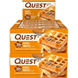 Quest Nutrition Protein Bar Maple Waffle. Low Carb Meal Replacement Bar with 20 Gram Protein. High Fiber, Gluten-Free (24 Cou