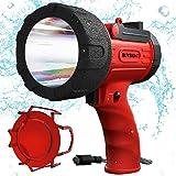 BUYSIGHT Rechargeable spotlight,Spot lights hand held large flashlight 6000 lumens handheld spotlight Lightweight and Super b