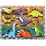 Melissa & Doug 3747 Dinosaur Wooden Chunky Puzzle (7 pcs), 9 x 12 inches