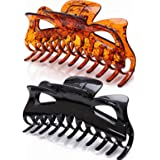 Prettyou 5.5 Inches Large Hair Clips Crystal Plastic Hair Claw Banana Clips Accessories for Women,pack of Two