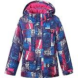 PHIBEE Girls' Waterproof Breathable Outdoor Fleece Snowboard Ski Jacket