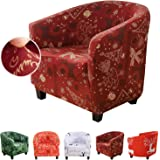 SearchI Super Stretch Couch Chair Covers Christmas Decoration for Living Room Universal Sofa Slipcovers Armchairs Cover Prote