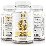Lions Mane Mushroom Capsules - Organic Max Strength 2100mg + BioPerine - Advanced Nootropic Brain Supplement for Memory & Foc