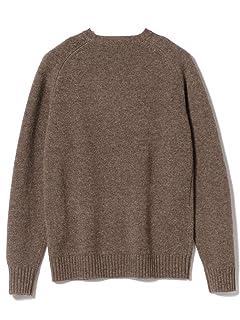 5 Gauge Wool Crewneck Sweater 11-15-0879-103: Brown