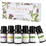 ASAKUKI Aromatherapy Essential Oils includes Lavender, Eucalyptus, Lemongrass, Tea Tree, Sweet Orange and Peppermint, Water-s