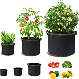 6PCS 3/5/7 Gallon Planting Bags, Thick Non-Woven Planting Pots With Handles For Vegetables/Flowers/Nursery