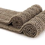 CIICOOL Thick Chenille Bathroom Rugs Non Slip Bath Rugs Super Absorbent Bathroom Mat Machine Washable Bath Mats for Bathroom,