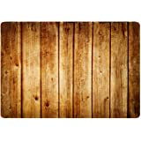 Hidecor Front Door Mat Welcome Outdoor Indoor Enter Rustic Old Barn Wood Doormat Non Slip Carpets Rug for Kitchen Bathroom Ba
