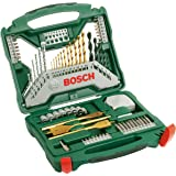 Bosch 2607019329 70 Piece X-Line Drill and Screwdriver Bit Set (For Wood, Masonry, and Metal)