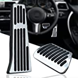 KVR Foot Pedal Pads No Drilling Aluminum Gas Brake Pedal Covers for Some Models BMW 1 2 3 4 5 6 7 Series X3 X4 X5 X6 X7 Autom