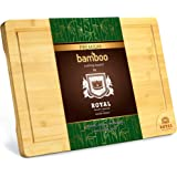 EXTRA LARGE Organic Bamboo Cutting Board with Juice Groove - Best Kitchen Chopping Board for Meat (Butcher Block) Cheese and