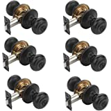 Dynasty Hardware SIE-30-12P Sierra Door Knob Privacy Set, Aged Oil Rubbed Bronze, Contractor Pack (6 Pack)