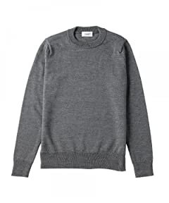 United Arrows Middle Gauge Wool Silk Crewneck Sweater 1113-248-3563