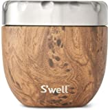 S'well Stainless Steel Food Bowls - 21.5 Oz - Teakwood - Triple-Layered Vacuum-Insulated Containers Keeps Food and Drinks Col