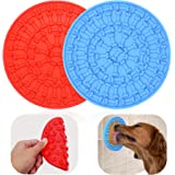 Helpcook Dog Lick Pad, Dog Washing Distraction Device,Pet Bath Grooming Helper,Slow Treat Dispensing Mat-Super Strong Suction