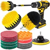 Holikme 10 Pack Drill Brush Power Scrubber Cleaning Brush Extended Long Attachment Set All Purpose Drill Scrub Brushes Kit fo