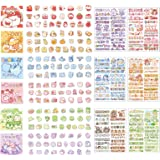 Cute Cartoon Rabbits Decoration Stickers for Scrapbook Planners Gift Packing Scrapbooking Album Planner Journal Arts DIY Craf