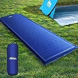 Inflatable Sleeping Pad Weisshorn Lightweight Camp Sleeping Mat Air Bed 6CM-Thick Rollable Mattress for Camping Tent Caravan
