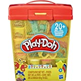 Play-Doh Large Tools and Storage Activity Set for Children Aged 3 Years and Up with 8 Non-Toxic Play-Doh Colours and 20-Plus