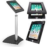 Pyle PSPADLK55 Tamper-Proof Anti-Theft iPad Kiosk Safe Security Public Floor Stand, Holder, Public Display Case with Adjustab