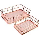 Wire Baskets, Wire Mesh Organizer Basket, Desk Drawer Countertop Freezer Storage Orgainzing Basket for Entryway, Bedroom, Bat