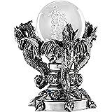 Design Toscano QS291672 Dragons of Corfu Castle Mystic Glass Globe, Silver