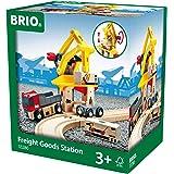 Brio BRI33280 Freight Goods Station, 6 Pieces Train Set