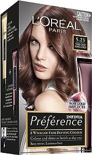 L'Oréal Paris Préférence Permanent Hair Colour - 5.23 Very Deep Rose Gold (Intense, Fade-Defying Colour)