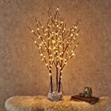 Hairui Lighted Willow Branches Brown with Fairy Lights Decor 32in 150LED, Pre-lit Artificial Twig Tree Branch Lights for Home