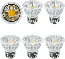 5.5W絶縁材料本体LED電球 e26口金ハロゲン電球60W形相当圧倒的の演色性Ra95 長寿命JDR50の代替品消費電力5.5W 電球色2700K 非調光 広配光タイプ90度LEDスポットライト、明るさ550lm (Aiwode 5個セット2700K)。