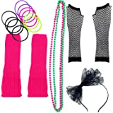 Zilo Novelties 80s Costume for Women. The Perfect 80s Women Costume Set to Make You The Hit of The Party Pink (A)