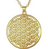 【36q】フラワーオブライフ ゴールド ネックレス 《神聖幾何学》【ポイント20%還元!】